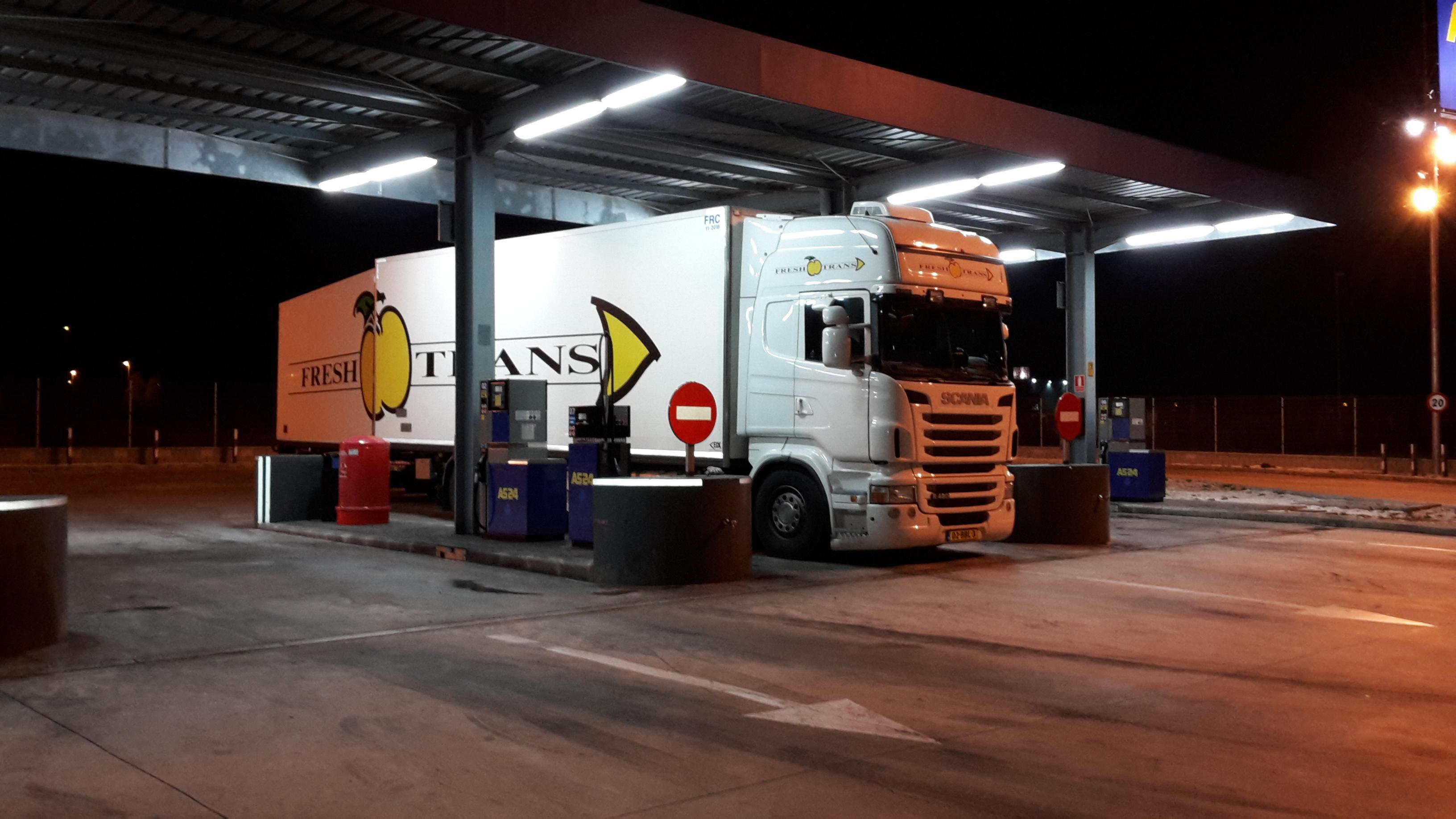 Scania - Vol en klaar om te vertrekken